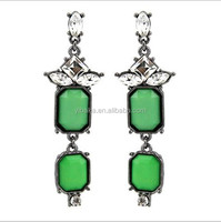latest new design stone drop earring piercing earring charm alloy earring bali jewelry earring wholesale(EA80440)