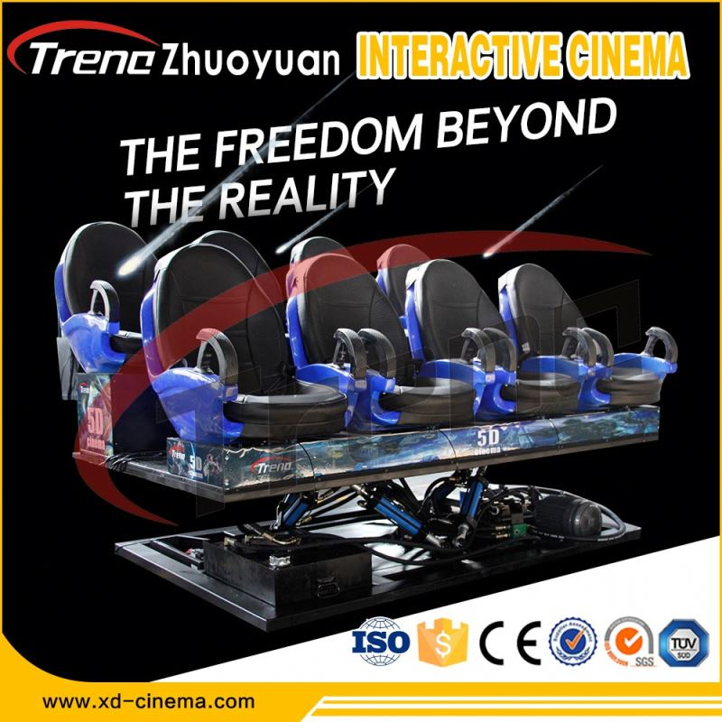 9D VR Virtual Reality , Cinema Equipment Type 9d cinema simulator with 6 seats 8 seats 12 seats