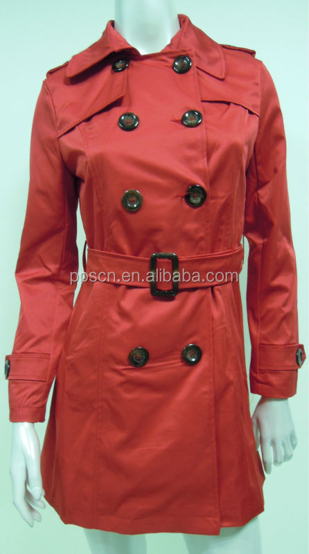 2014 red woman winter long cheap faux leather jacket from China