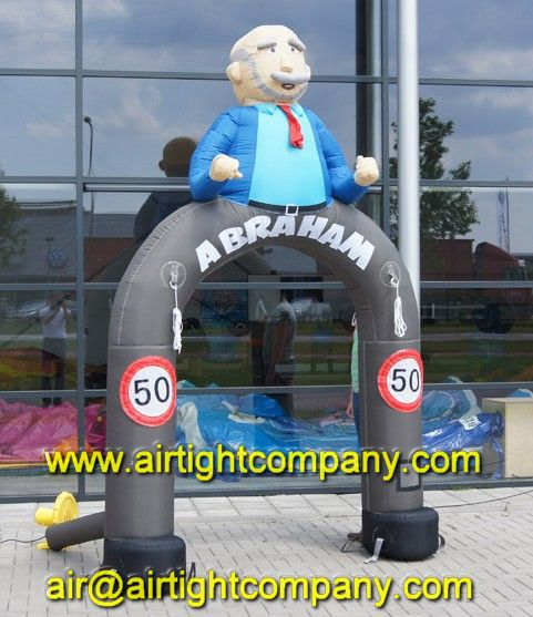 decoration used PVC super quality inflatable Abraham balloon arch for sale