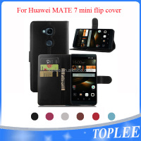 hot sale PU leather wallet flip cover for Huawei mate 7 mini case