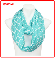Hot selling quatrefoil infinity scarf with zipper pocket wholesale