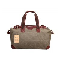 Large Canvas Leather Handbag,Travel Trip Weekend Bag,High End Duffle Bag