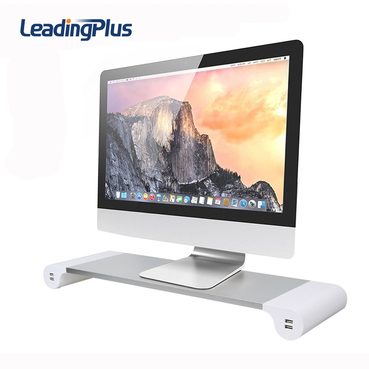 Patent Multi Monitor Stand 4 USB Charging Station Aluminium Laptop Stand for Macbook