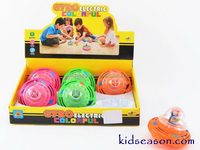 KIDSEASON MUSICAL FLASHING UFO SPINNING TOP TOYS