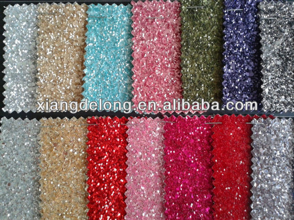 Glitter Synthetic Stretch Fabric Leather for Handbag/Synthetic Leather