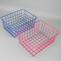 550-13A fashion coloring desk metal storage basket for kitchen bathroom