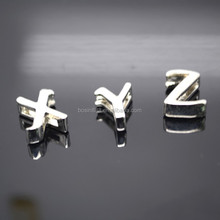 Factory wholesale jewelry letter charm 925 sterling silver pendant
