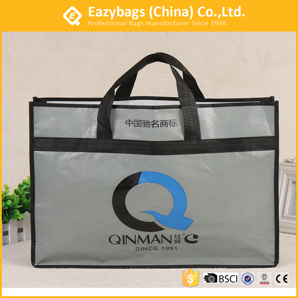 Wholesale custom bed shopping carry bags with zipper puller