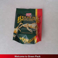 Custom printed stand up horse food packaging bag with zipper / pet food zipper pouch