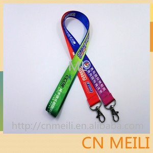 ID Card badge lanyards with Olive hook,neck polyester lanyards with logo printing custom
