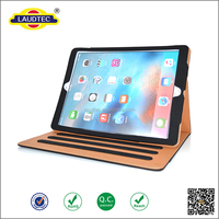 Customized stand design PU leather case for ipad pro 12.9,for ipad pro 12.9 with wake up and sleep function