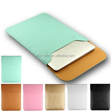 "Hot PU Leather Laptop Sleeve Case For Mac Air 11"",AIR 13"",Retina 12,13.3,15.4 inch,Envelope Bag"