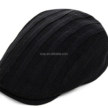 The spring and autumn winter hat male Korean fashion tide England knitting Beret Hat forward peaked cap painter