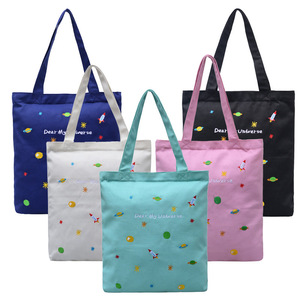 High Quality Handle Style Plain Printing Cotton Tote Bag School Canvas bag