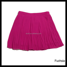 Wholesale Girls Pleated style chiffon skirt with fast delivery