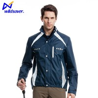 Functional 3d embroidered windbreaker leisure polyester jacket