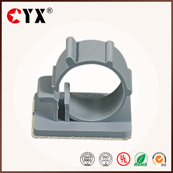Grey UL Qualified Nylon66 Self-adhesive Cable Clips