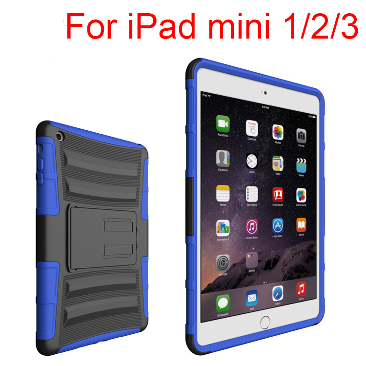 2017 Hybrid Shockproof Case For Ipad Mini 2 For Ipad Mini 3 Hard Armor Stand Case For Ipad Mini