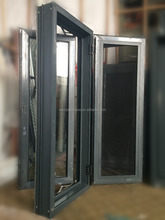 New type thermal break aluminum casement window with king kong mesh