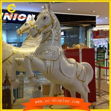 holidays festival decorations FRP horse display props kursaal decoration whirligig