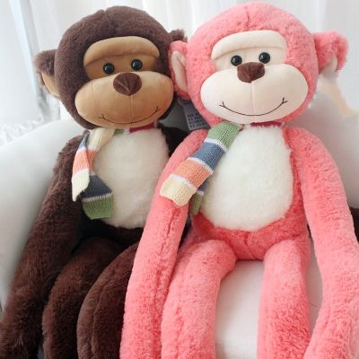 2017 Alibaba hot stuffed plush red monkey toys long arms and legs monkey plush toy