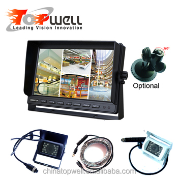 Bus Truck 10.1Inch HD LCD Quad Rear View System