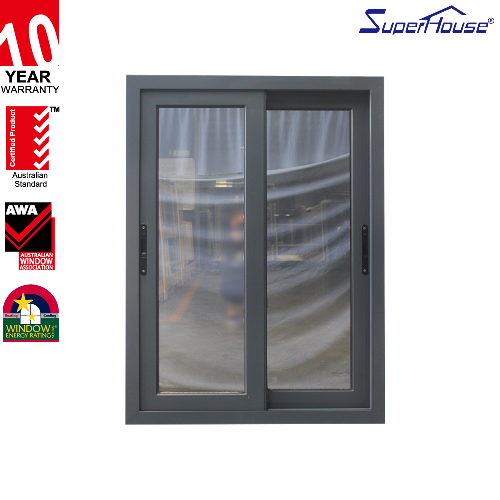 Australia AS2047 standard double glass cheap aluminium sliding window with mosquito net