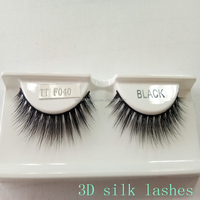 Cheap wholesale hand made synthetic hair lashes strips 3D silk false eyelashes