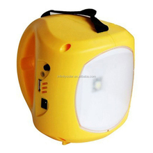 Multiple Color Case Solar Rechargeable LED Lantern with Handle Carry