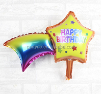 Mini star and rainbow foil balloon for kids birthday party decoration