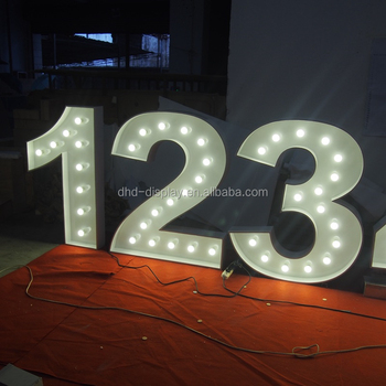 New Style Wedding Decoration Metal Letters and Numbers