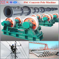 Concrete electric pole/pile mast making machine and moulds with After-sales Service Provided