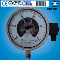150mm bottom type stainless steel electric contact pressure gauge