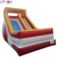 Colorful design inflatable water slide for kids and adults/bouncer slide inflatable