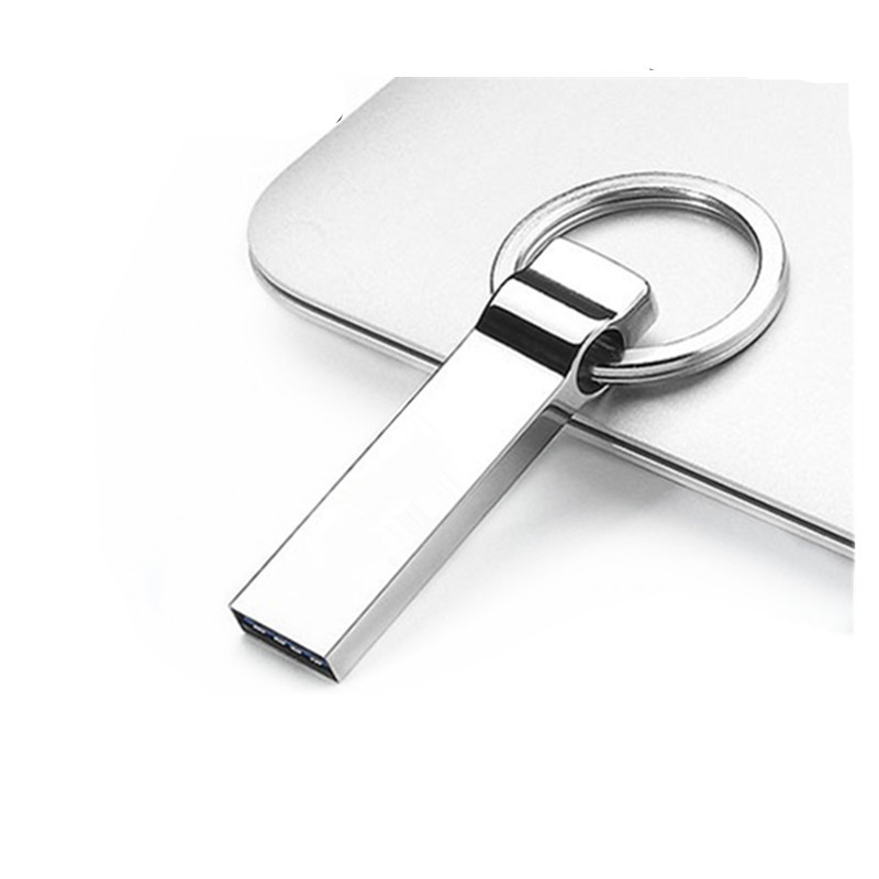 Business Gift Set Promotional Custom Printed USB Drives 4gb 8gb Mini Metal Hook Shaped Pendrive 16gb with Keyring
