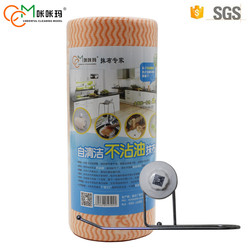 China supplier excellent quality disposable spunlace nonwoven fabric household cleaning kitchen wipes