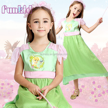 new 2017 children girls tinker bell princess night gown sleeping wear pajamas for wholesale