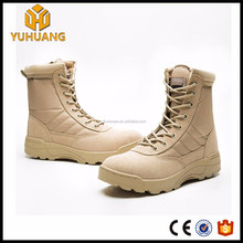 Cheap Men cow suede Leather waterproof swat military boots