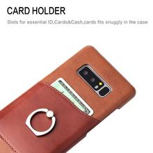 high quality leather flip case for galaxy note 8