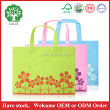 2016 factory Wholesale heat seal ultrasonic recycle large non woven tote bag with plastic button and cardboard