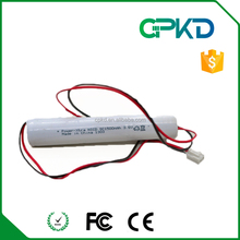 emergency light battery 3.6V ni-cd sc size 1500mah battery pack