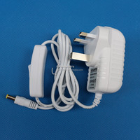 24v ac power adapter White, 24v0.5a 24v0.75a 24v1a 24v1.5a 24v2a LED driver with switch on DC line