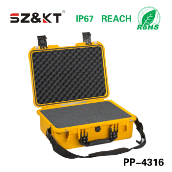 Watertight plastic tool box for laptop