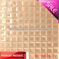 Tawney mirror crystal glass mosaic tile for building wall decoration