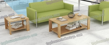 Tophouse Modern living room furniture square wood coffee table