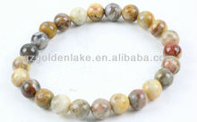 Crazy lace agate rounds-19cm beaded Bracelet