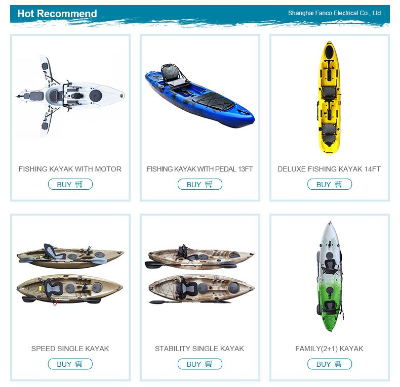 No inflatable 3.3 meters hull material PE jet kayak with motor