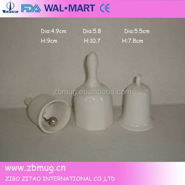 custom design white ceramic bell