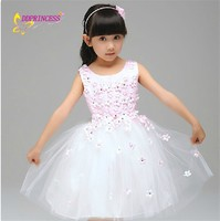 children girl pink party wear elegant dresses cute teen girls dresses kids wear brands with fake diamond decoration